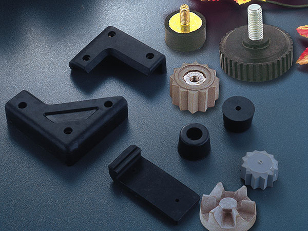 Silicone inlaid metal parts